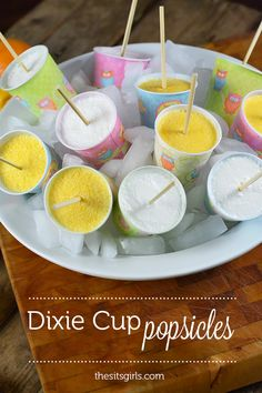 Use Dixie Cups to make popsicles   easy popsicle recipe   homemade orange popsicles