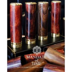 Vapemonster mod Mandate of time * Specs -Handmade Stabilized Wood -45 degree turn Locking Mechanism... -Buttery smooth threads -Copper inner tubing AND contacts -Brass top and bottom caps -ALL parts made in South Korea -High-end but honest price. -One of
