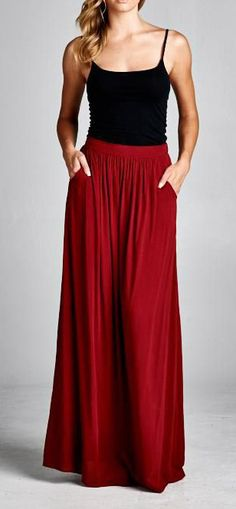 Pinterest: jasminecampos3 Taylor Skirt in Pomegranate