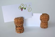 Wedding, Birthday, Special Event, Champagne Cork Place Card / Escort Holders : Corkey Creations