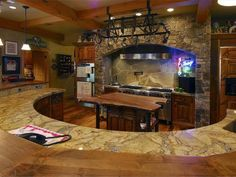 Log Home Kitchen, Whitefish, Montana.