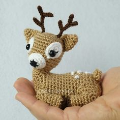 Canal crochet ♥️ en Youtube Small Deer, Crochet Dog Patterns, Crochet Cactus, Amigurumi Tutorial, Free Pattern, Teddy Bear, Knitting, Youtube, Animals