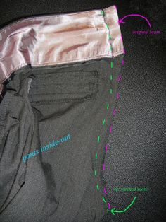how to take in pants at the waist
