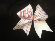 Monogrammed+cheer+bow++by+PalmettoPrincessShop+on+Etsy,+$24.00