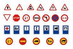 Cuáles son las señales de tráfico en España Reading A Ruler, Diy, Scenery, Cabo, Construction, Google, Trains, Model, Traffic Sign