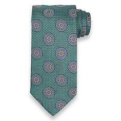 Medallion Woven Italian Silk Tie from Paul Fredrick | Paul Fredrick