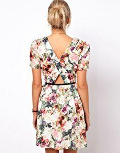 Enlarge Oasis Photographic Floral Print Dress