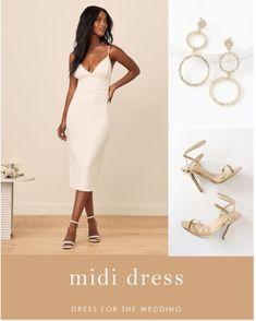 LIKEtoKNOW.it White Midi Dress, Designer Wedding Dresses, Bridal Gowns, Beautiful, Tops, Fashion, Bride Dresses, Moda, Fashion Styles
