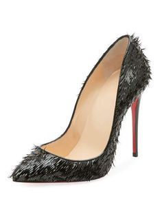Pigallie Follies Crow Patent Red Sole Pump