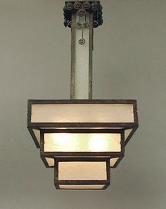 Art Deco Chandelier  |  wedding cake style light fixture