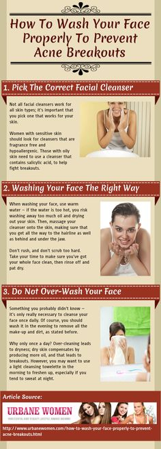How To Wash Your Face Properly To Prevent Acne Breakouts [Infographic]