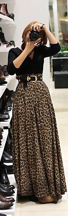 Love this animal print skirt- Luxurydotcom