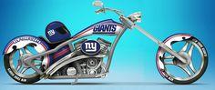 new york giant motorcycles | NFL New York Giants Motorcycle Figurine: Cruising With The Giants