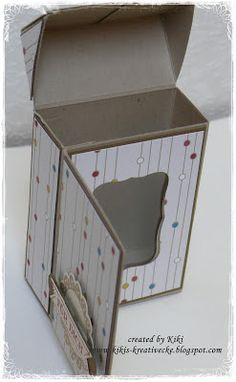 KIKI 'S CREATIVE CORNER: * ~ * ~ Flip Top Box