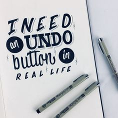 Finally got my hands on the Micron Fineliners Day 158 I need an undo button in real life #micronsakura #lettering #undobutton #handlettering