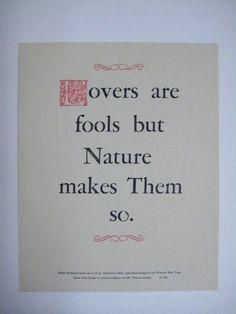 Roycroft-inspired Arts & Crafts broadside letterpress print