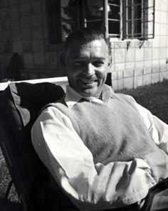 Clark Gable. Love his smile and dimples! .