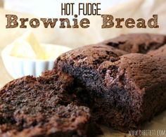 Hot Fudge Brownie Bread Ansari so glad you're into chocolate recipes right now. Köstliche Desserts, Delicious Desserts, Dessert Recipes, Yummy Food, Brownie Recipes, Sweet Desserts, Fudge Brownies, Cheesecake Brownies, Hot Fudge