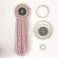 Woven wall hangings Dream Catcher Rings, Tree of Life Ring, Metal Rings, Mandela Ring Weaving Macrame Hanger. Yorkshire, Loom Weaving, Tapestry Weaving, Loom Yarn, Circular Weaving, Small Cushions, Knit Basket, Kit, Weaving Projects