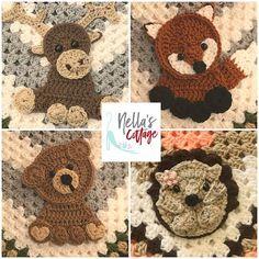 Crochet Woodland Animals INSTANT PDF DOWNLOAD Pattern