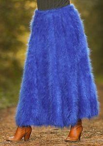 Fuzzy Angora Skirts   New-Hand-Knit-Mohair-Skirt-Fuzzy-ROYAL-BLUE-SKIRT-Handcrafted-Dress ...