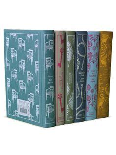 Jane Austen Penguin Classics (Set of 6) - Gilt Home love the jacket cover designs