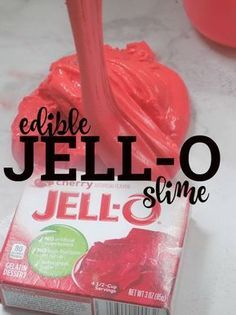 Jell-O Slime! An Edible Taste-Safe DIY Jello Slime Recipe - No glue or borax - just simple ingredients found in the kitchen. : Jell-O Slime! An Edible Taste-Safe DIY Jello Slime Recipe - No glue or borax - just simple ingredients found in the kitchen. Slime For Kids, Fun Crafts For Kids, Toddler Crafts, Summer Crafts, Projects For Kids, Diy For Kids, Kids Food Crafts, Diy Crafts Simple, Cool Stuff For Kids
