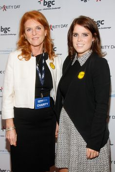 zimbio: Sarah, Duchess of York, and daughter Princess Eugenie attended the Annual Charity Day hosted by Cantor Fitzgerald and BGC, New York City, September 11, 2014