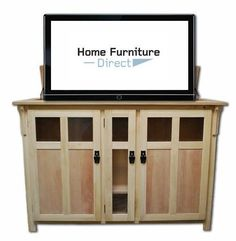 Bungalow Unfinished TV Lift Cabinet #TouchstoneHome