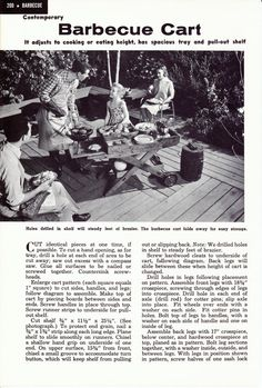 Barbecue Cart - Plans For A Vintage Diy Project (2 Pages) - Vintage Book…