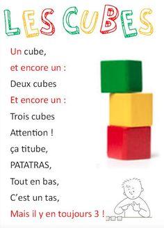 Ma version de « les cubes » pour en faire une comptine mathématiques à la…