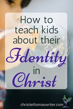 A simple resource and a recommended book for parents who want to help their kids find their identity in God. via Christie Thomas Bible Object Lessons, Bible Study For Kids, Bible Lessons For Kids, Kids Bible, Kids Church Lessons, Youth Lessons, Sunday School Lessons, Scriptures For Kids, Bible Scriptures