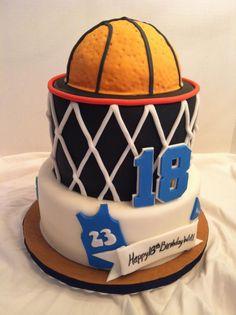 Basketball Cakes For Boys Basketball birthday cake