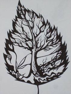 pretty cool, could also do a tree design inside a feather or bird shape outline, or bird inside tree