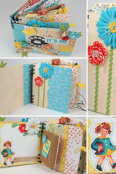 Vintage mini album for girls