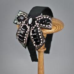 jeweled bow headband