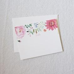 """Personalized Stationery, Personalized Gift, Custom Gift, """"The Magnolia"""" Stationery Set by Dodeline Design"""