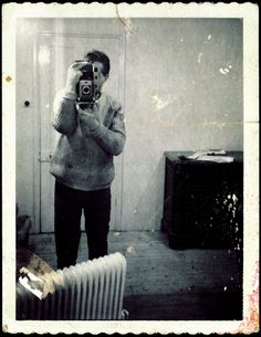 Francis Bacon: Polaroid self-portrait taken in a mirror (1970s).