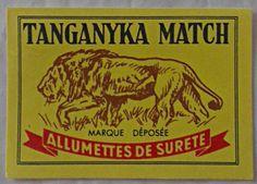 Matchbox Lion Label Tanganyika