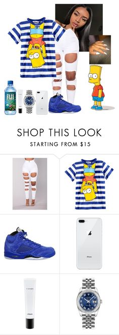 """Hey Bart"" by kodeineshay ❤ liked on Polyvore featuring Amina, H&M, NIKE, MAC Cosmetics and Rolex"