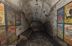 London Underground: Builders renovating Notting Hill tube station discovered a secret room behind a sign on the platform, which had lain undiscovered for 50 years.