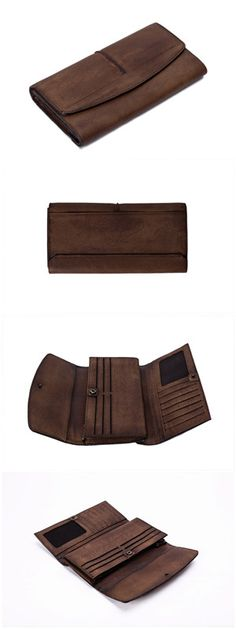 Genuine Natural Leather Wallet/ Long Wallet/ Men's Wallet