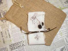 French Bunny Ribbon handmade 1/2 yd by lamoneeboutique on Etsy, $1.65