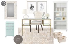 Coastal, and Preppy Office by Havenly
