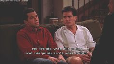 Two And A Half Men one of my favorite shows. Two and A Half Men was great up in till Charlie Harper died. 2 And Half Man, Two And Half Men, Two Men, Peaky Blinders Quotes, Charlie Sheen, Television Program, Men Quotes, Classic Tv, Favorite Tv Shows