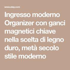 Ingresso moderno Organizer con ganci magnetici chiave nella scelta di legno duro, metà secolo stile moderno