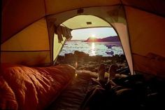 Sleep on the beach... and wake up to see the sunrise!! :)