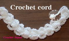 コードの編み方 7 【かぎ針編み】How to Crochet cord