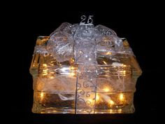 25th Silver Wedding Anniversary Glass Block by IlluminateUnlimited, $28.99