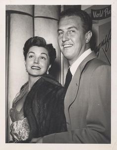Esther Williams and husband Ben Gage.....She married singer/actor Ben Gage on November 25, 1945; they had three children, Benjamin Stanton, Kimball Austin (now deceased) & Susan Tenney. In her autobiography, she portrayed Gage as an alcoholic parasite who squandered $10 million of her earnings. Gage and Williams separated in 1952 & divorced in April 1959